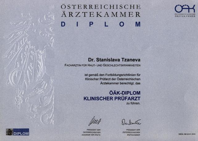 Diplom Klinischer Prüfarzt