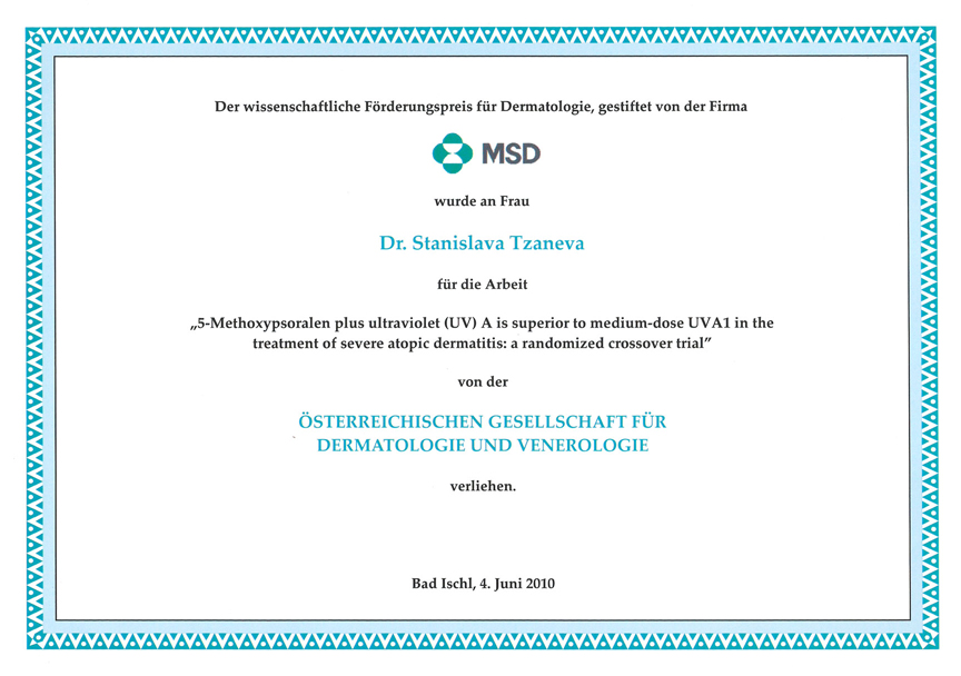 Wissenschaftliche Förderungspreis 2010